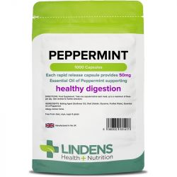 Lindens Peppermint Oil 50mg Capsules 1000