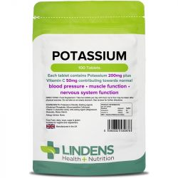 Lindens Potassium 200mg Tablets 100