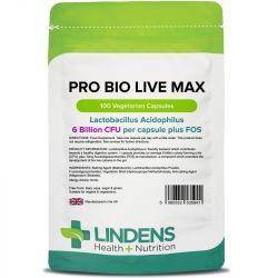 Lindens Pro Bio Live Max 6bn Veg Capsules 100