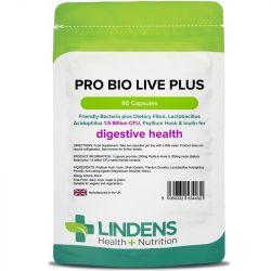 Lindens Pro Bio Live Plus (+dietary fibre) Capsules 90