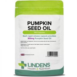 Lindens Pumpkin Seed Oil 300mg Capsules 100