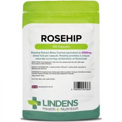 Lindens Rosehip 2000mg Capsules 100