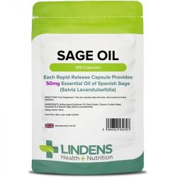 Lindens Sage 50mg Essential Oil Caps 100