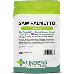 Lindens Saw Palmetto 500mg Tablets 365