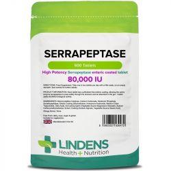 Lindens Serrapeptase 80,000iu Tablets 500