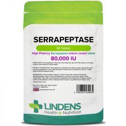 Lindens Serrapeptase 80,000iu Tablets 90