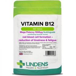 Lindens Vitamin B12 1000mcg Sublingual Tabs 365