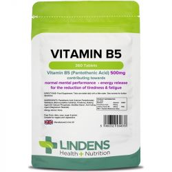 Lindens Vitamin B5 500mg tablets 360