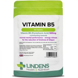 Lindens Vitamin B5 500mg tablets 90