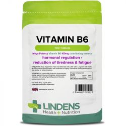 Lindens Vitamin B6 100mg Tablets 100