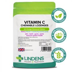 Lindens Vitamin C 1000mg Chewable Lozenges 60