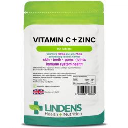 Lindens Vitamin C + Zinc Tablets 90