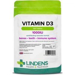 Lindens Vitamin D3 1000iu Tablets 120