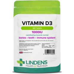 Lindens Vitamin D3 1000iu Tablets 360