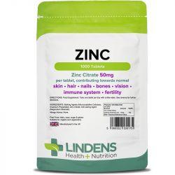 Lindens Zinc Citrate 50mg Tablets 1000