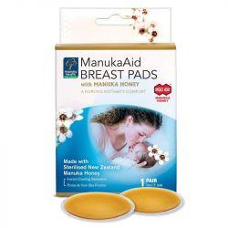 Manuka Health MGO 400+ ManukaAid Breast Pads with Manuka Honey (Pack of 2)