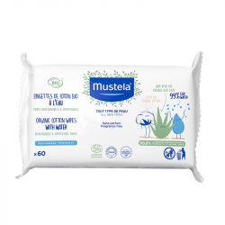 Mustela Organic Cotton Water Wipes 60