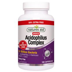 Nature's Aid Acidophilus Complex 5 Billion Capsules 180