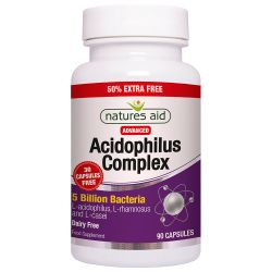 Nature's Aid Acidophilus Complex 5 Billion Capsules 90
