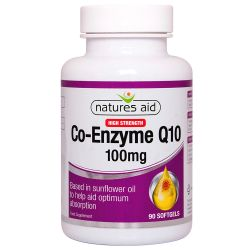 Nature's Aid COQ-10 100mg (Co-Enzyme Q10) Softgels 90