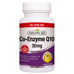 Nature's Aid COQ-10 30mg (Co-Enzyme Q10) Softgels 45