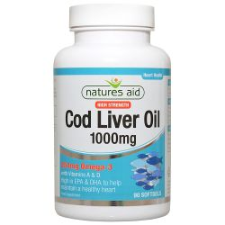 Nature's Aid Cod Liver Oil (High Strength) 1000mg Softgels 90