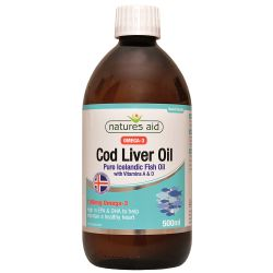 Nature's Aid Cod Liver Oil Liquid (with Vitamin A & D) 500ml