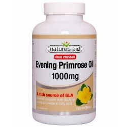 Nature's Aid Evening Primrose Oil 1000mg (Cold Pressed) Softgels 180