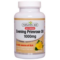 Nature's Aid Evening Primrose Oil 1000mg (Cold Pressed) Softgels 90