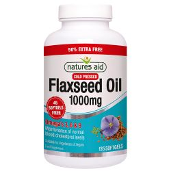 Nature's Aid Flaxseed Oil 1000mg Softgels 135