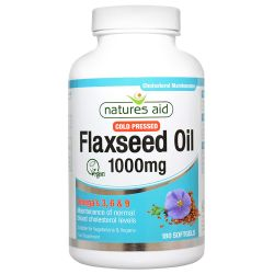 Nature's Aid Flaxseed Oil 1000mg Softgels 180