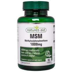 Nature's Aid MSM 1000mg Tablets 90