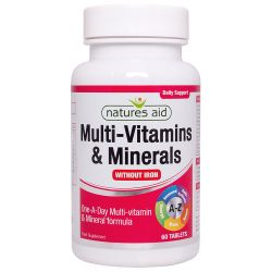 Nature's Aid Multi-Vitamins & Minerals (without Iron) Tablets 60