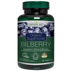 Nature's Aid Organic Bilberry 7500mg Tablets 60
