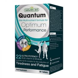 Nature's Aid Quantum Ultra Potency Multi-Vitamins & Minerals (Iodine free) Tablets 30