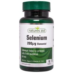 Nature's Aid Selenium 200ug (with Zinc and vitamins A, C & E) Tablets 90