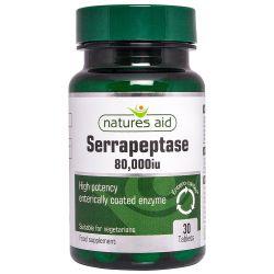 Nature's Aid Serrapeptase 80,000iu (Entero-Coated) Tablets 30