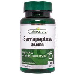 Nature's Aid Serrapeptase 80,000iu (Entero-Coated) Tablets 90