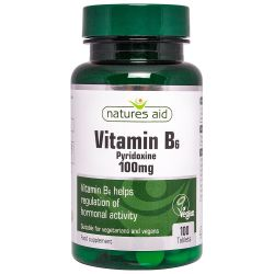 Nature's Aid Vitamin B6 (High Potency) 100mg Tablets 100