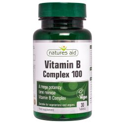 Nature's Aid Vitamin B Complex 100 Time Release (Mega Potency) Tablets 30
