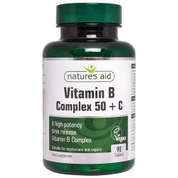 Nature's Aid Vitamin B Complex 50 with Vit C Tablets 90