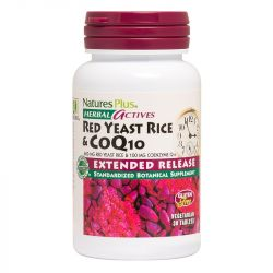 Nature's Plus Herbal Actives Extended Release Red Yeast Rice 600mg/COQ-10 100mg Tabs 30