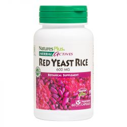 Nature's Plus Herbal Actives Red Yeast Rice 600mg VCaps 60
