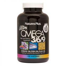 Nature's Plus Ultra Omega 3-6-9 1200mg Softgels 120