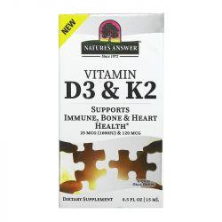 Nature's Answer Vitamin D3 & K2 Drops 15ml