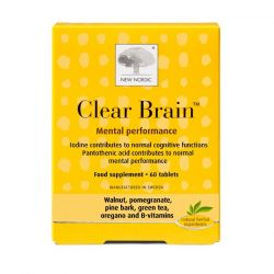 New Nordic Clear Brain Mental Performance Tablets 60