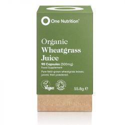 One Nutrition Wheatgrass 500mg Capsules 90