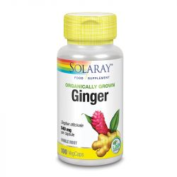 Solaray Organically Grown Ginger Root Vcaps 100