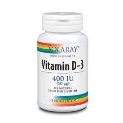 Solaray Vitamin D3 400iu Softgel 120