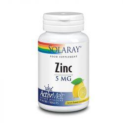 Solaray Zinc AivMelt 5mg Lozenges Lemon 60